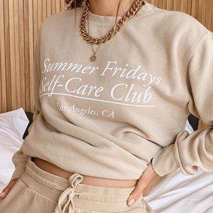 Summer Fridays Self-Care Club Sweatshirt